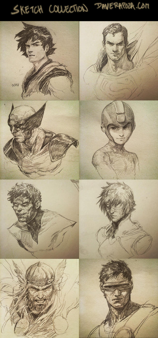 Sketch Collection! by DavidRapozaArt