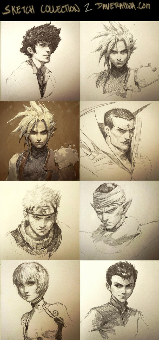 Sketch Collection part 2! by DavidRapozaArt