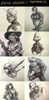 Sketch Collection part 3! by DaveRapoza