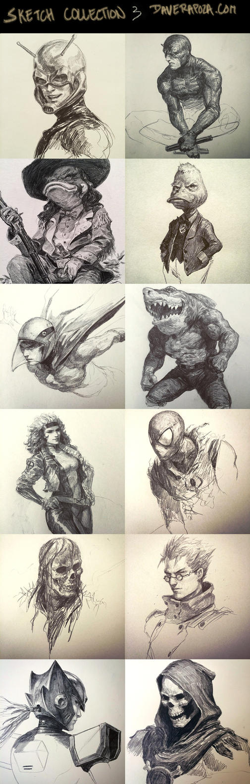 Sketch Collection part 3! by DavidRapozaArt