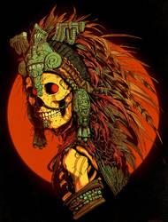 Aztec Skeleton by DaveRapoza