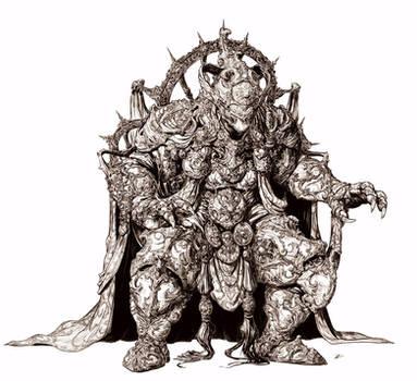 Dvarapala Cyclops - Inks by DaveRapoza