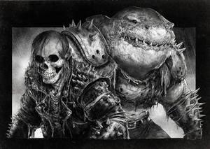 Skull and Shark