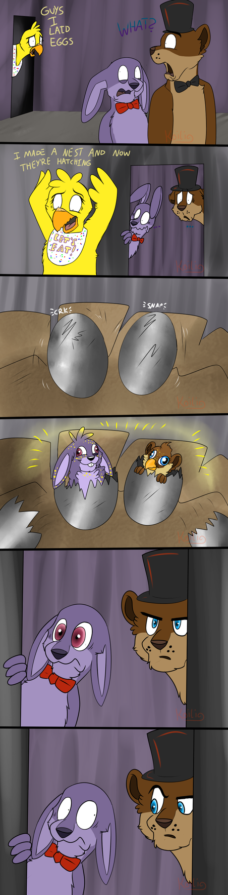FNaF - Chica's Eggs by Koili
