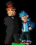 FNaF - Humanized Toy Freddy and Toy Bonnie
