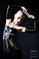 TrizTaess Latex-Dress  (black-transparent) by AmatorisLatexCouture