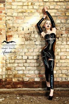 TrizTaess Latex-Dress  (black-transparent)2