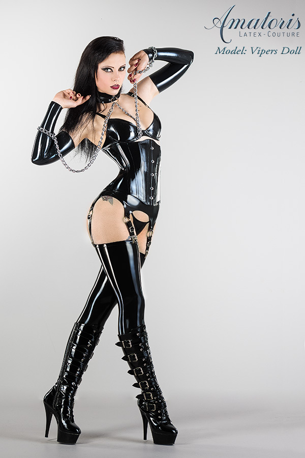 Vipers Doll Latex-Corset-Outfit by AmatorisLatexCouture