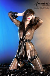 Black Widow Latex-Kimono (gown) 2 by AmatorisLatexCouture