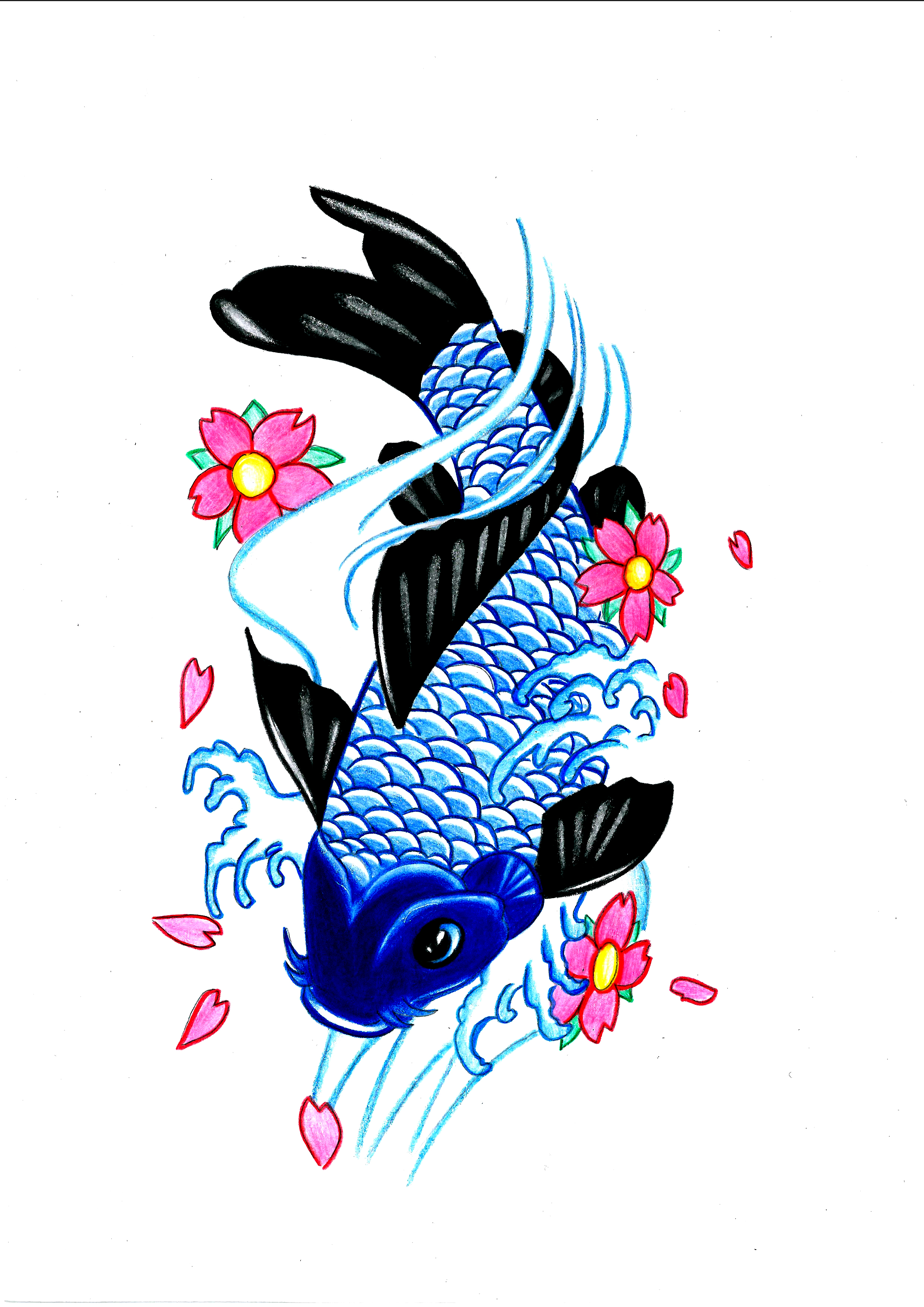 Koi fish by flxrence on deviantart for Koi fish artists