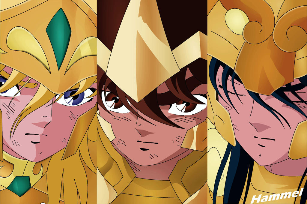 hyoga__seiya_y_shiryu___gold_saints_by_h