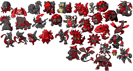 Shadow pokemon sprites by astra zero on deviantart