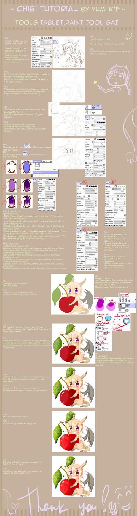 chibi tutorial ENG/RUS by YumiKF