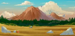 dragon's peak by YumiKF