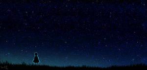 starry sky_wallpaper by YumiKF