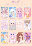 2018 Summary of Art by YumiKF