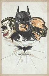 The Dark Knight Trilogy 2005-2012 by RyanLuckoo