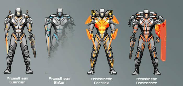 Promethean Guardian Sub-Classes by PlainBen