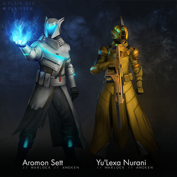 Commission: Warlock Duo