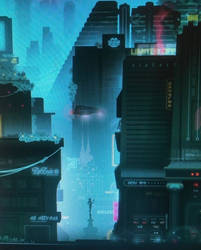 A homage to bladerunner. book cover for Soft Robot