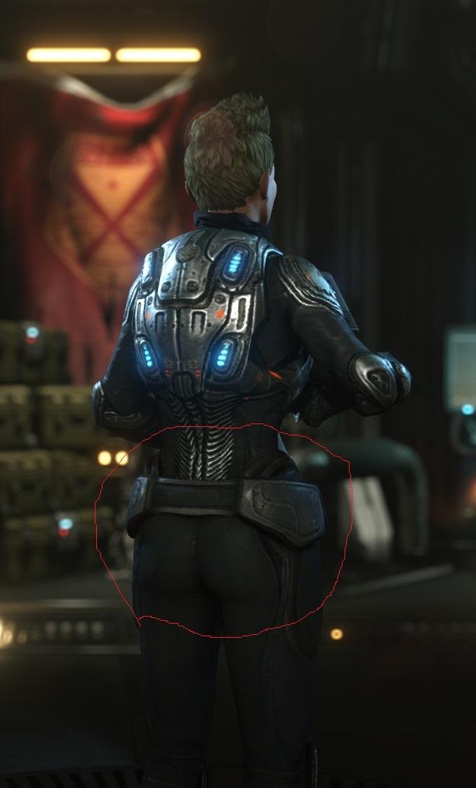 Xcom 2 Female soldier Gears of War mod booty by CoolerTheGreat