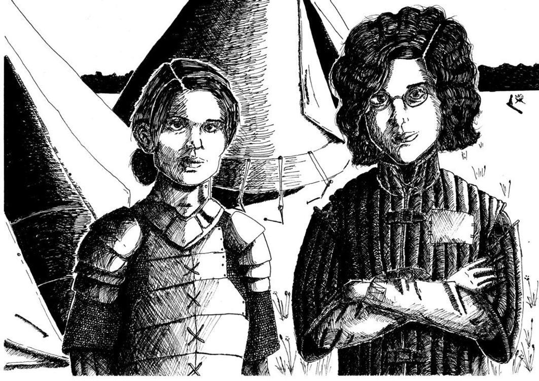 War Buddies: Evangeline and Imogen by SchmutyBuncis
