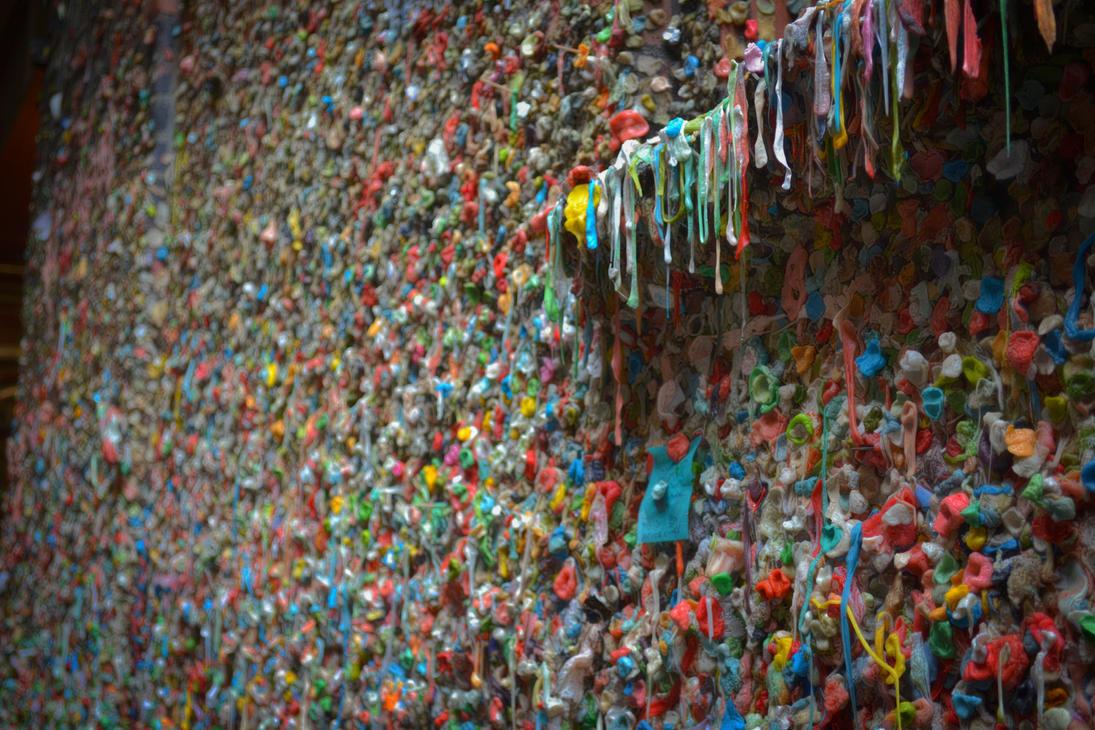Wall o' Gum in Seattle by Sprunks