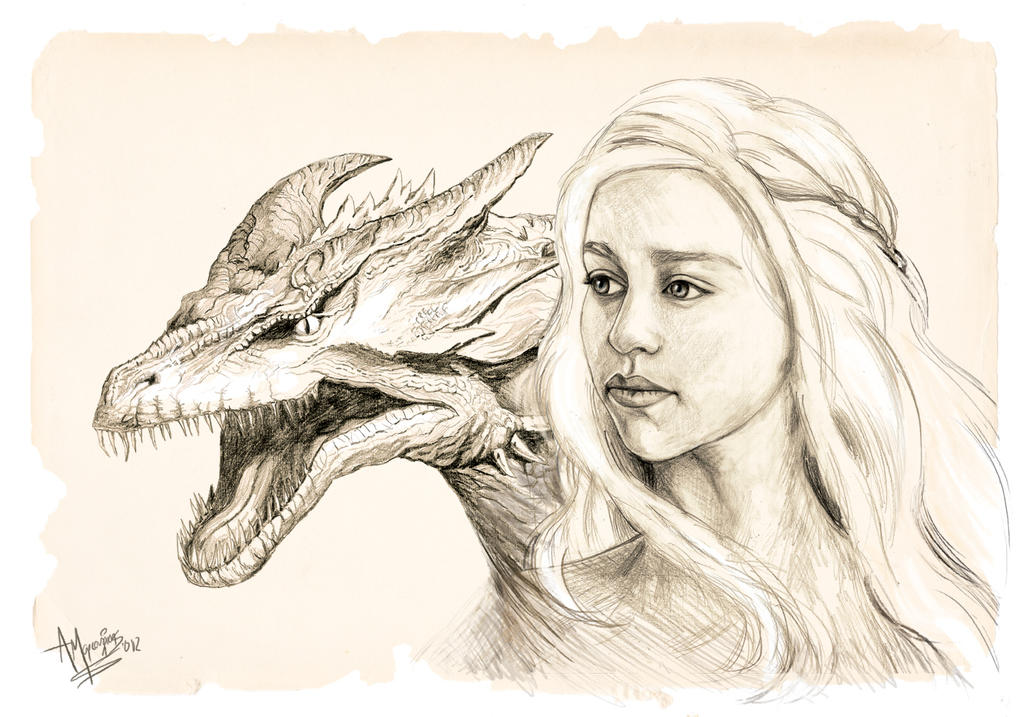 daenerys mother of dragons by thelethalrabbit on deviantart