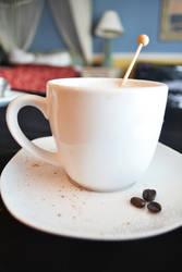 Room service cappuccino