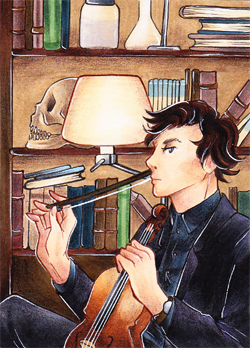 Do you dislike the violin? - ACEO# 43 by Zeolith