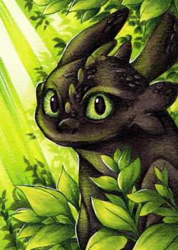 ACEO #167. A monster? by Zeolith