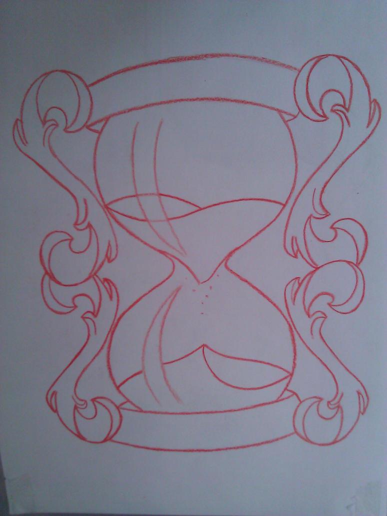 hourglass sketch by painispleasure tats on deviantart. Black Bedroom Furniture Sets. Home Design Ideas