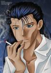 Smoking habit - Sakyo - Yu Yu Hakusho by Shiori-Lynn