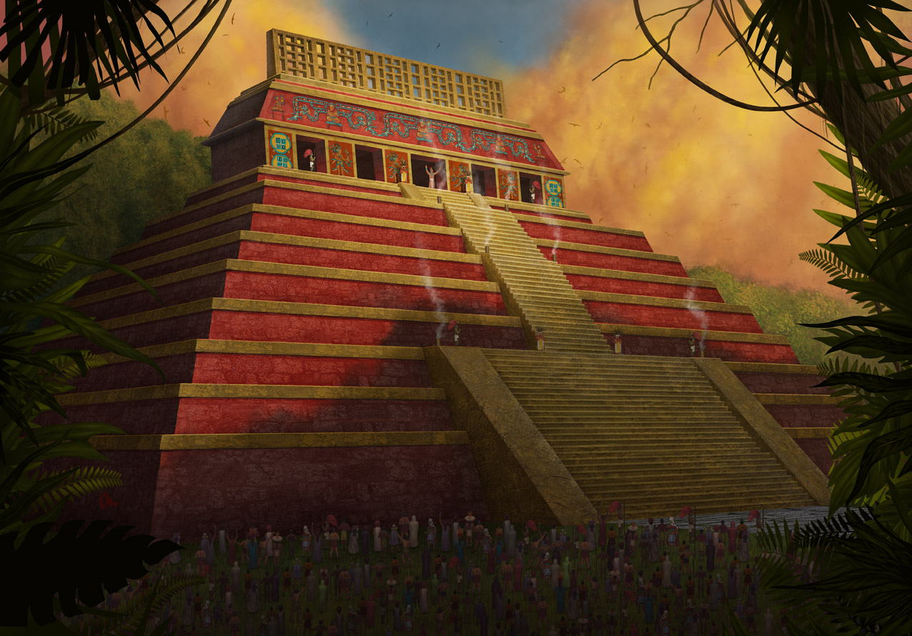 Red piramid sacrifice by AlMaNeGrA