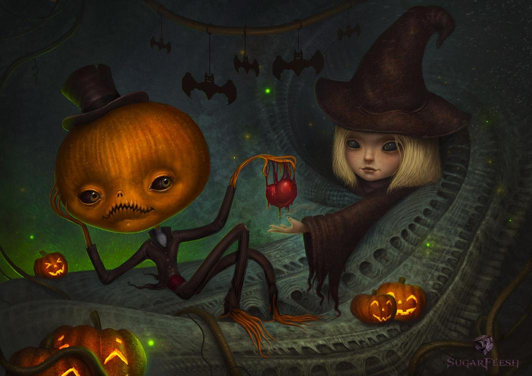 Halloween love by AlMaNeGrA