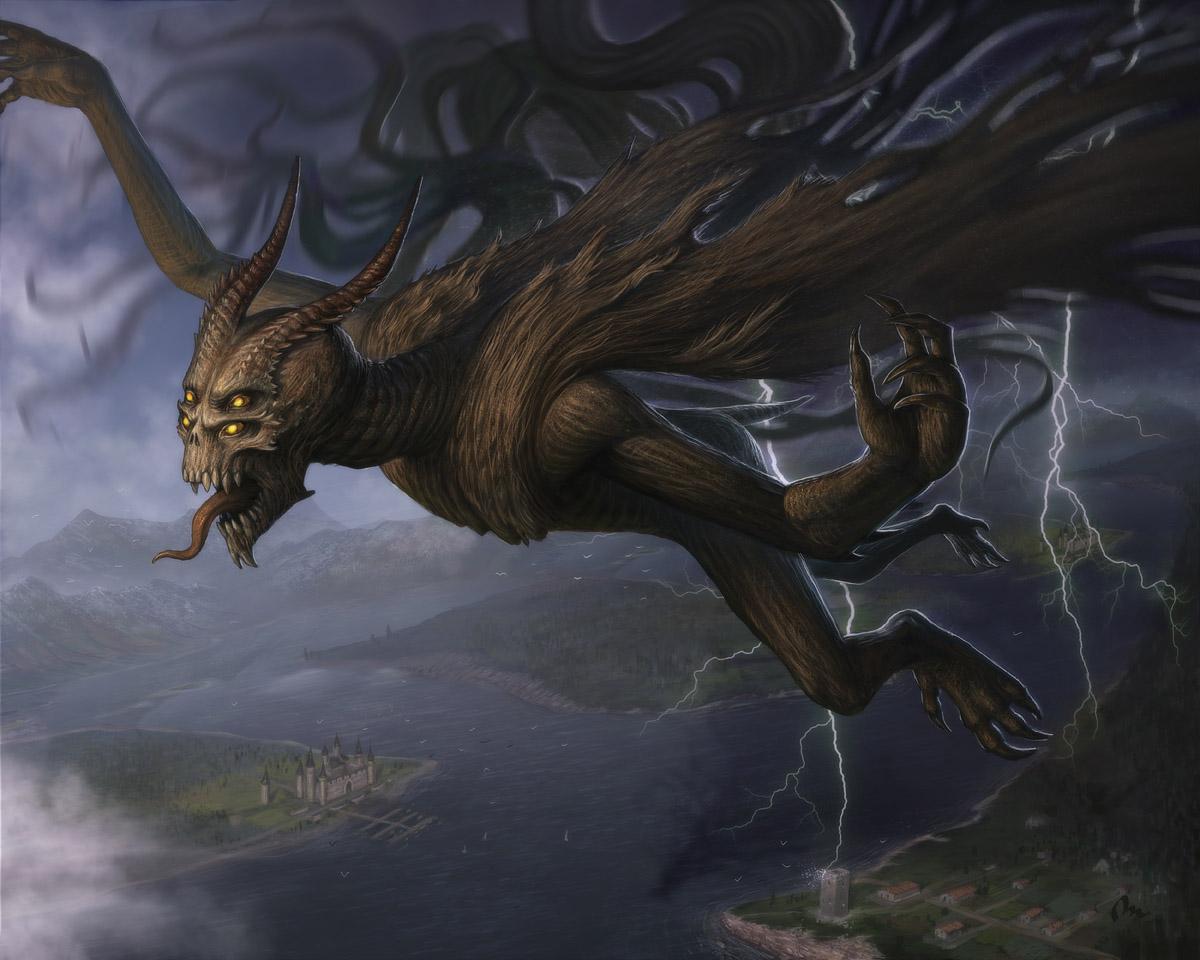 Nightbringer. Shadow demon. by AlMaNeGrA