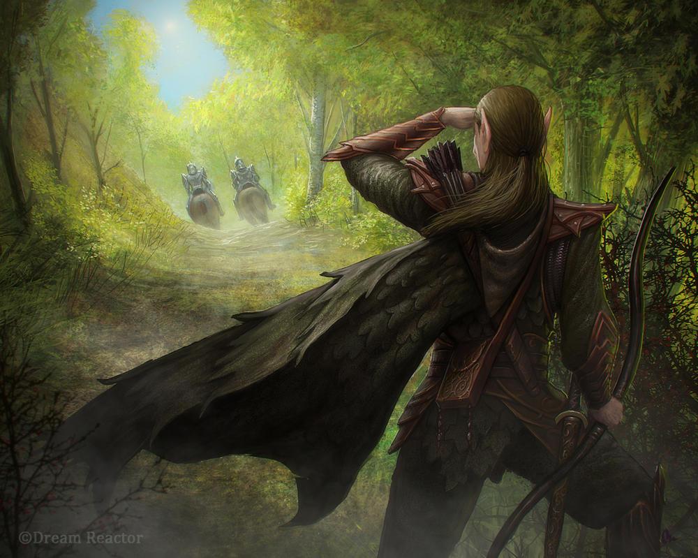 Elven Scout by AlMaNeGrA