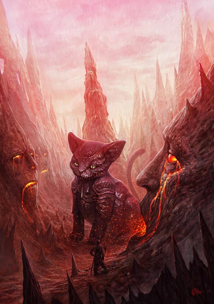 Oniric Mars Cats by AlMaNeGrA