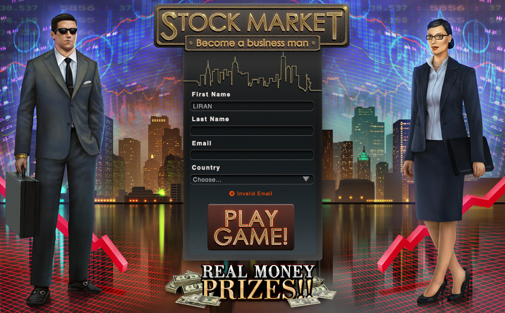 Stock Market - the game. Register screen. by AlMaNeGrA