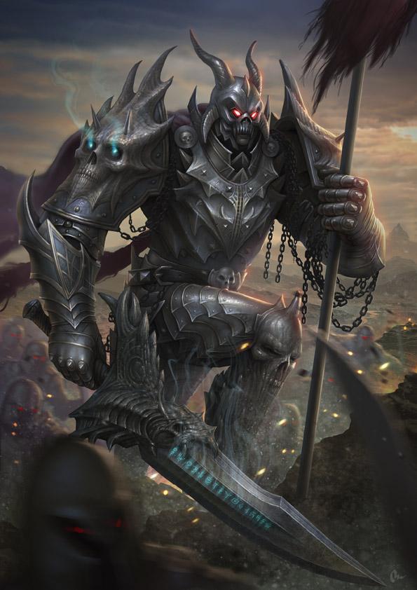 Death knight by AlMaNeGrA