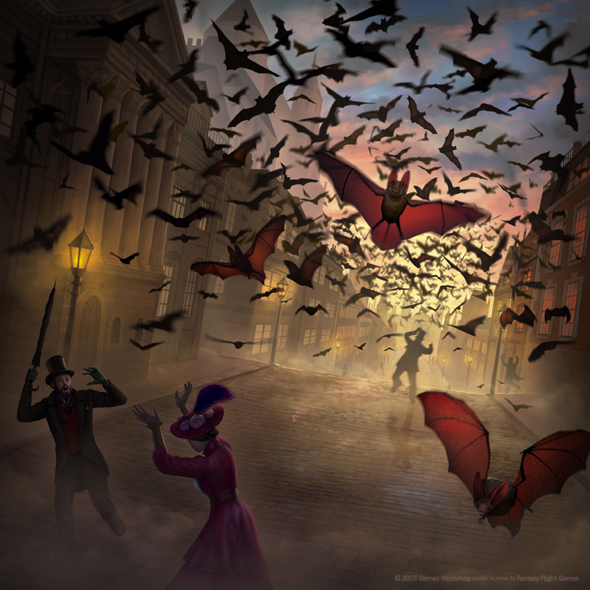 FLOCK OF BATS - FURY OF DRACULA by AlMaNeGrA
