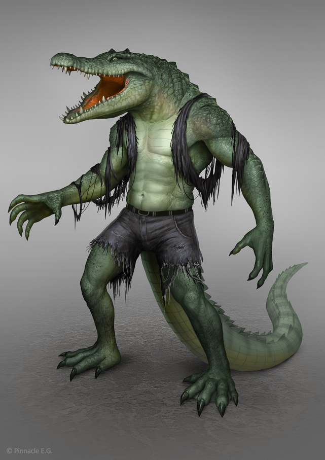 Human-Crocodile Hybrid by AlMaNeGrA on DeviantArt