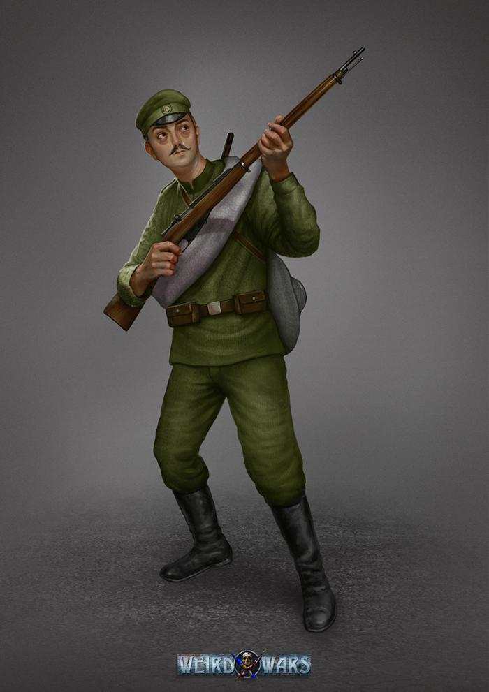 WWI Russian Infantryman by AlMaNeGrA