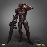RIFTS Hagan Combat Cyborg by AlMaNeGrA
