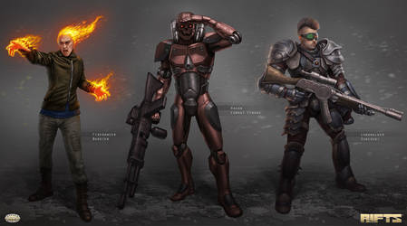 Savage RIFTS characters group 1