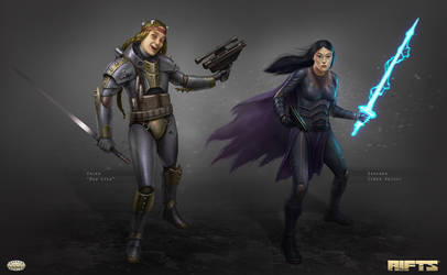 Savage RIFTS characters group 2