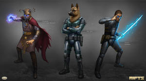 Savage RIFTS characters group 3 by AlMaNeGrA