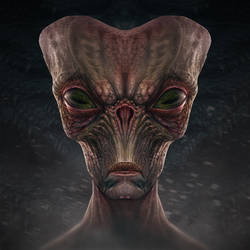 Alien head sketch 1 by AlMaNeGrA