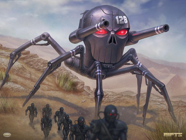 RIFTS Spider-Skull Walker by AlMaNeGrA