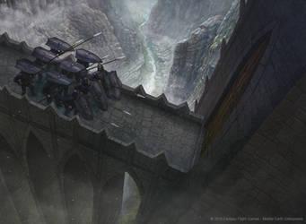LORD OF THE RINGS TCG- Castle Garrison final by AlMaNeGrA